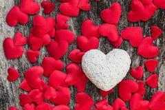 De Hartenachtergrond van de valentijnskaartendag Stock Afbeelding