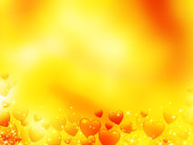 De hartenachtergrond van Glitterting Royalty-vrije Stock Afbeelding