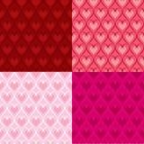 De hartenachtergronden van de valentijnskaart Stock Foto