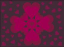 De hartenbloem van de valentijnskaart royalty-vrije illustratie