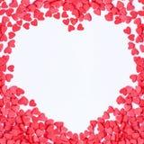 De hartenframe van de valentijnskaart Stock Foto