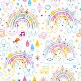 De hartenpatroon van regenbogenwolken Royalty-vrije Stock Afbeeldingen