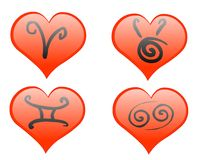 De hartenpictogram van de dierenriem Royalty-vrije Stock Afbeelding