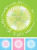 De hartenvector van bloemen Royalty-vrije Stock Afbeeldingen