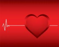 De hartslag van de monitor Stock Foto's