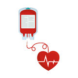 de hartslagconcept van de bloeddonatie plastic zak stock illustratie