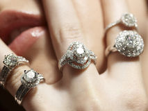 De hartstocht van de diamant Stock Foto's