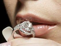 De hartstocht van de diamant Royalty-vrije Stock Foto's