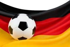 De hartstocht van Duitsland voor voetbal Royalty-vrije Stock Foto's