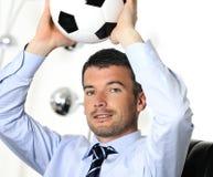 De hartstocht van het voetbal Stock Foto