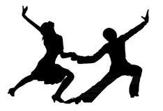 De hartstocht van tangodansers op de vloer Stock Fotografie
