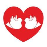 De hartstochtspictogram van de liefde Stock Afbeeldingen