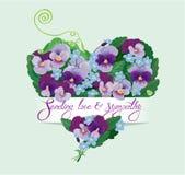 De hartvorm wordt gemaakt van mooie bloemen Royalty-vrije Stock Fotografie