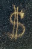 de haut du dollar 3d d'isolement rendent le symbole de résolution blanc Image stock