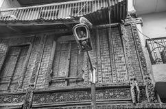 ` De Haveli do ` ou casa tradicional da herança em Ahmedabad Fotografia de Stock Royalty Free