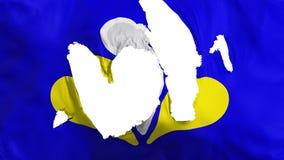 De haveloze vlag van Brussel vector illustratie