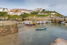 De haven Cornwall Engeland het UK van botennewquay Stock Foto's