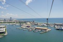 De Haven & de Jachthaven van Barcelona Royalty-vrije Stock Afbeelding