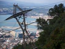 de haven en de kustlijn van Gibraltar. Royalty-vrije Stock Foto's