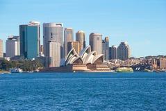 De haven en de stad van Sydney stock foto's