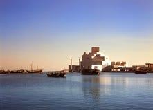 De haven en museum Qatar van Doha Stock Fotografie