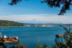 De haven en zet Regenachtiger op royalty-vrije stock afbeelding