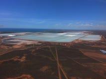 De Haven Hedland Westelijk Australië van zoute productievijvers Royalty-vrije Stock Afbeelding