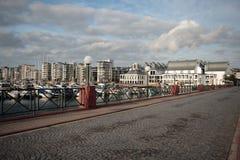 De haven in Helsingborg, Zweden. royalty-vrije stock afbeeldingen