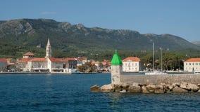 De haven Jelsa van Kroatië stock video