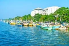 De haven in lagune Stock Foto's