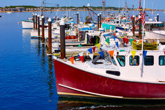 De haven Massachusetts de V.S. van Cape Cod Provincetown stock afbeelding