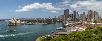 De Haven Pano van Sydney Stock Foto's