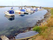 De haven, Shell Island, Wales. stock afbeeldingen