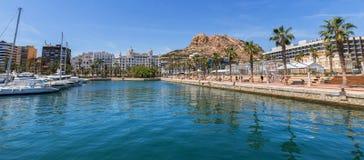 De haven Spanje van Alicante royalty-vrije stock afbeelding