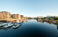 De haven Trondheim van de stad Stock Fotografie