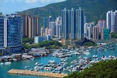 De haven van Aberdeen, Hongkong Stock Afbeeldingen