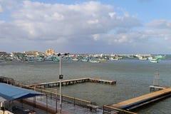 De haven van Alexandrië royalty-vrije stock afbeelding