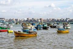 De haven van Alexandrië stock afbeeldingen