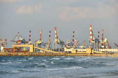 De haven van Ashdod. Stock Foto