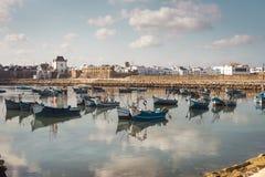 De haven van Assilah, Marokko Stock Afbeeldingen