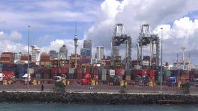 De Haven van Auckland Nieuw Zeeland stock video