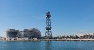 De haven van Barcelona, aan het eind van Ramblas Barcelona, Kat Royalty-vrije Stock Foto