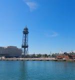 De haven van Barcelona, aan het eind van Ramblas Barcelona, Kat Stock Fotografie