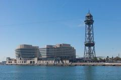 De haven van Barcelona, aan het eind van Ramblas Barcelona, Spanje Royalty-vrije Stock Fotografie