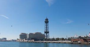 De haven van Barcelona, aan het eind van Ramblas Barcelona, Spanje Royalty-vrije Stock Foto