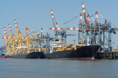 De haven van Bremerhaven Stock Afbeeldingen