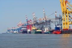De haven van Bremerhaven Stock Afbeelding