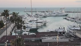 De Haven van Cannes stock videobeelden