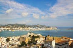 De haven van Dalt Vila van Ibiza serie Stock Fotografie
