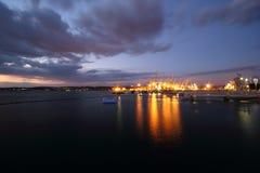 De Haven van de avond Stock Afbeeldingen